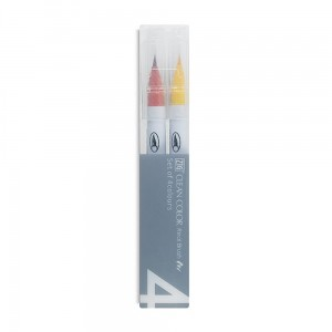 Markery KURETAKE ZIG CLEAN COLOR REAL BRUSH 4 SET PURE RB6000AT4VC
