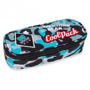 Piórnik Coolpack CAMPUS CAMO BLUE BADGES A62113