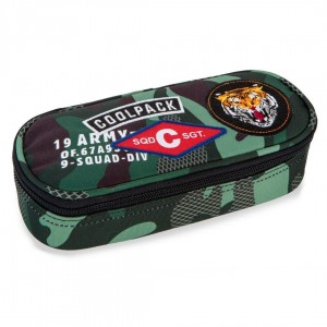 Piórnik Coolpack CAMPUS CAMO GREEN BADGES A62110