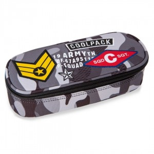 Piórnik Coolpack CAMPUS CAMO BLACK BADGES A62111