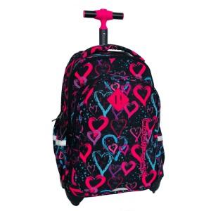 26cf160de826d Plecak młodzieżowy na kółkach Coolpack JUNIOR DRAWING HEARTS B28038