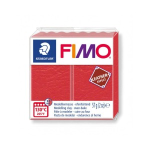 Kostka FIMO leather effect 57g arbuzowy masa termoutwardzalna Staedtler SD-8010-249