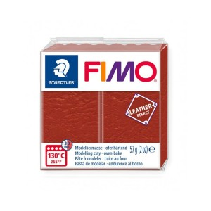 Kostka FIMO leather effect 57g rdzawy masa termoutwardzalna Staedtler SD-8010-749