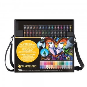 Markery komplet 30 pen complete me set CHAMELEON CT3001UK