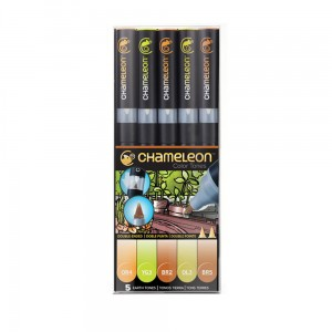 Markery komplet 5 earth tones set CHAMELEON CT0503UK