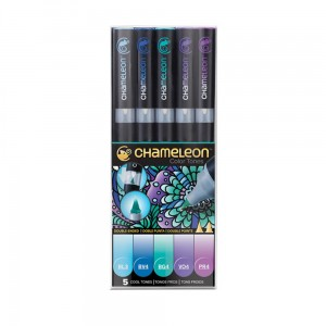 Markery komplet 5 cool tones set CHAMELEON CT0504UK