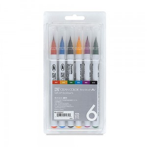 Markery zig clean color real brush 6 set KURETAKE RB6000AT6V