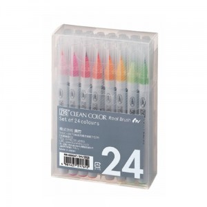 Markery zig clean color real brush 24 set KURETAKE RB6000AT24V