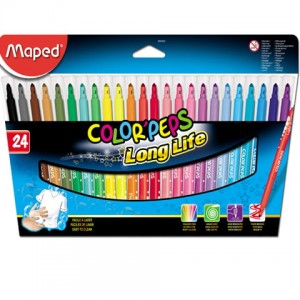 Flamastry colorpeps long life 24 sztuki Maped 845022