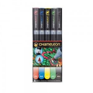 Markery komplet 5 primary tones set CHAMELEON CT0502UK
