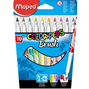 Flamastry colorpeps brush 10 sztuk  Maped 848010