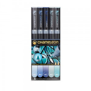 Markery komplet 5 blue tones set CHAMELEON CT0513UK