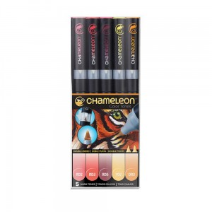 Markery komplet 5 warm tones set CHAMELEON CT0511UK