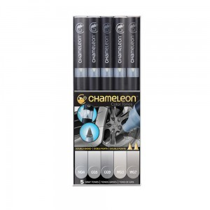 Markery komplet 5 grey tones set CHAMELEON CT0509UK