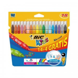 Flamastry 14+4 kolory KID COULEUR BIC