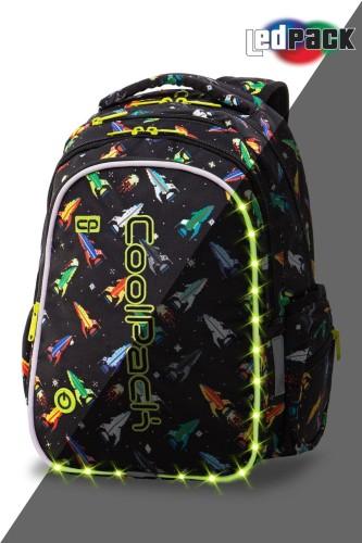 ba9699a457766 Plecak szkolny Coolpack Joy M LED ROCKETS A20207