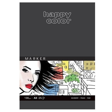 Blok do markerów A3 25 kartek 100 g/m Happy Color