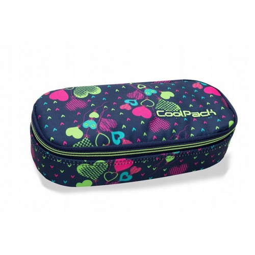Piórnik Coolpack CAMPUS LIME HEARTS B62010