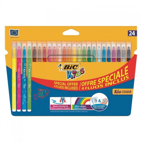 Flamastry 20+4 kolory COULEUR Fluo BIC